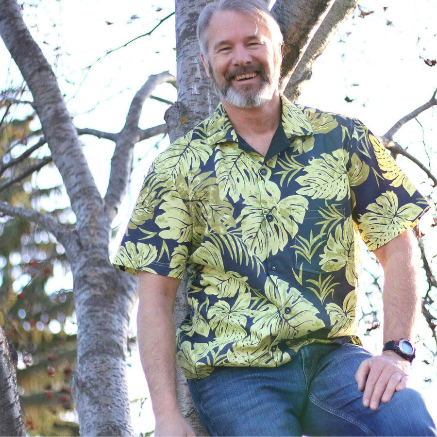 Mens tropical shirt PDF sewing pattern
