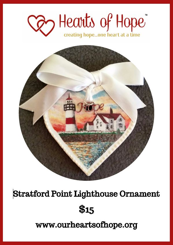 Hearts of Hope Lighthouse Ornaments Available
