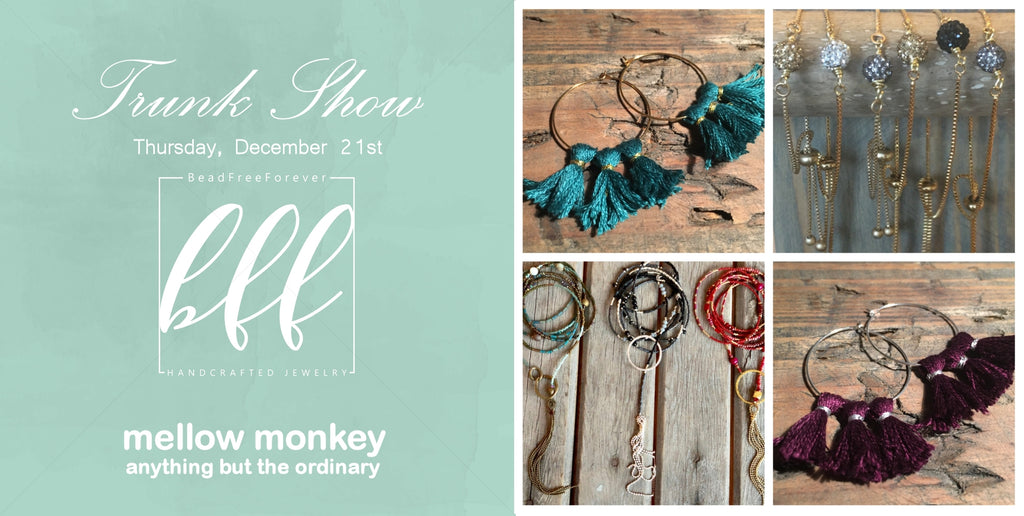 BeadFreeForver Trunk Show at Mellow Monkey
