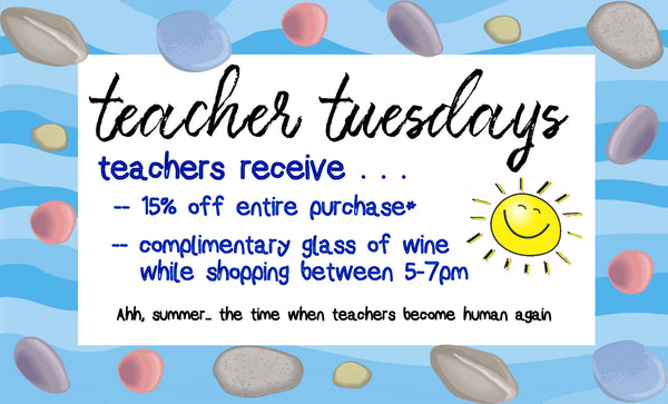 Teacher Tuesdays all summer long at Mellow Monkey