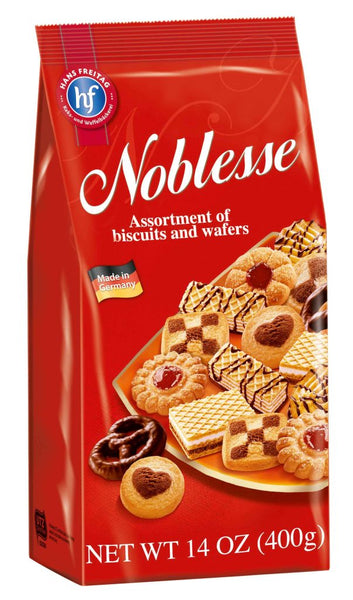 Hans Freitag Noblesse Cookies - Assortment of Bisquits and Wafers - 14-Ounce