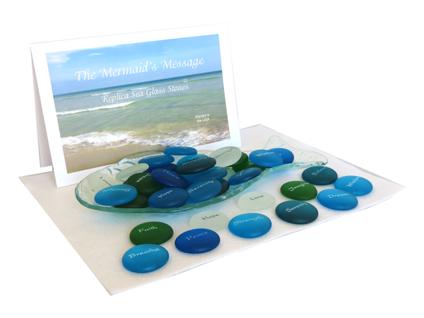 The Mermaid's Message Sea Glass Pocket Stone - Assorted