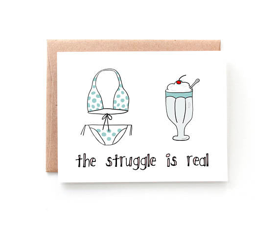 Yellow Daisy Paper Co. - Ice Cream Struggles Summer Card