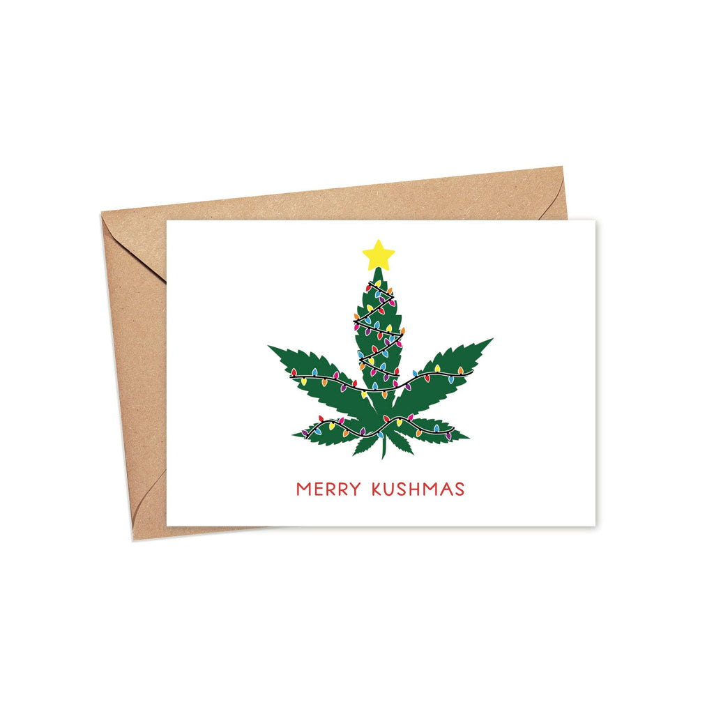 Merry Kushmas - Holiday Christmas Greeting Card