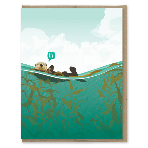 Hi - Otter Friendship Greeting Card