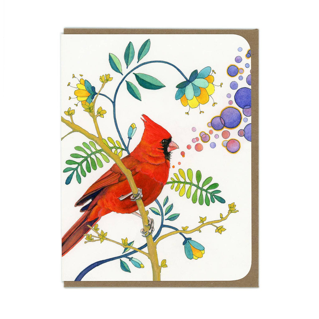 Cardinal Bird Greeting Card