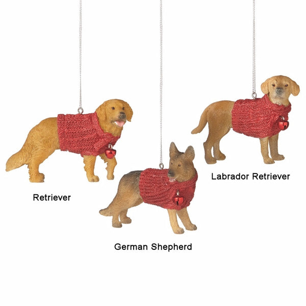Family Dog in Red Sweater Ornament - Mellow Monkey  - 1