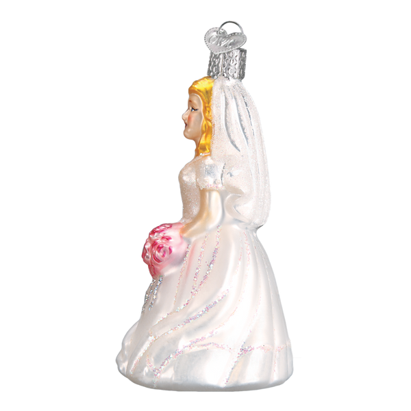 Old World Christmas Handcrafted Blown Glass Ornament - Bride