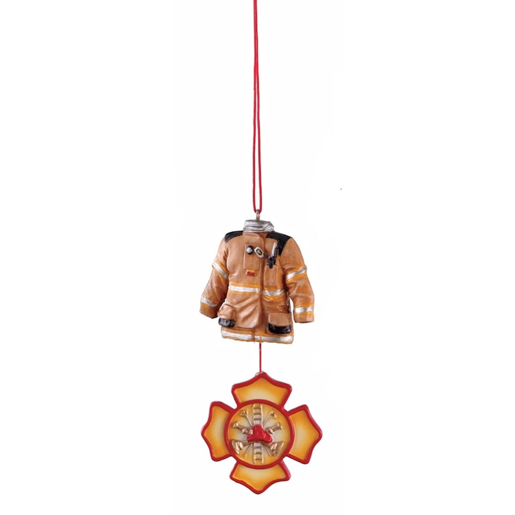 Firefighter Holiday Dangle Ornament - Mellow Monkey