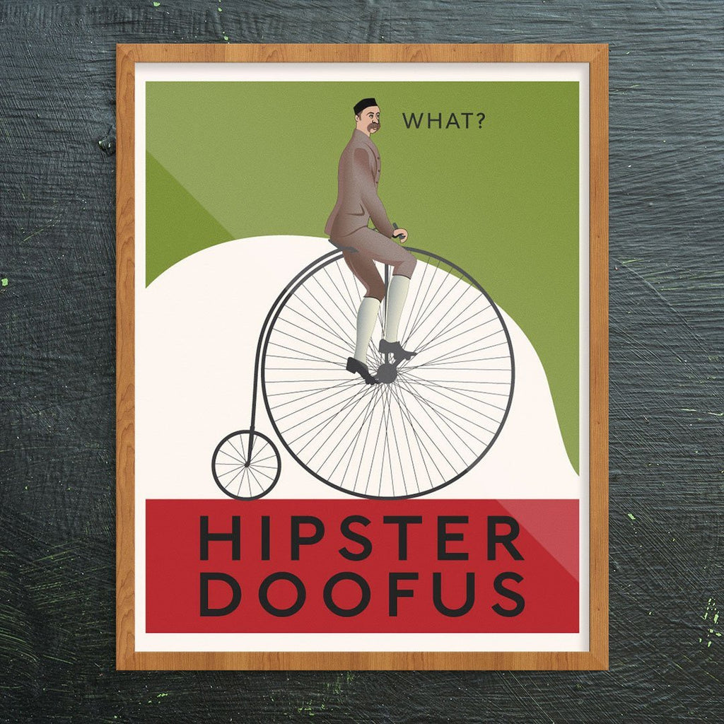 Doofus Penny Farthing Greeting Card