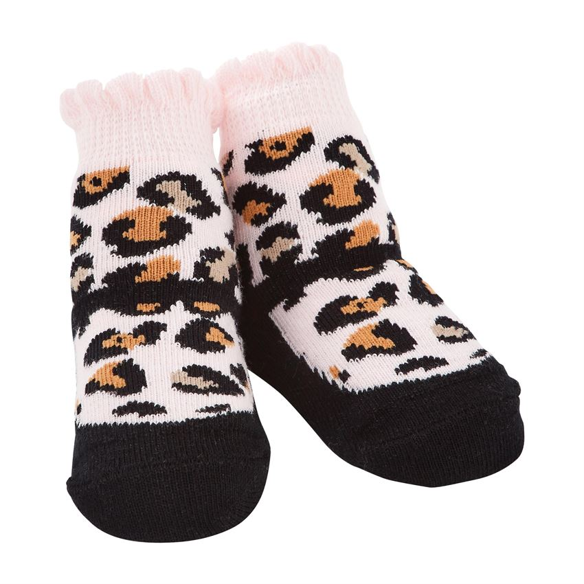 Infant Socks (0-12 Months) - Black Leopard