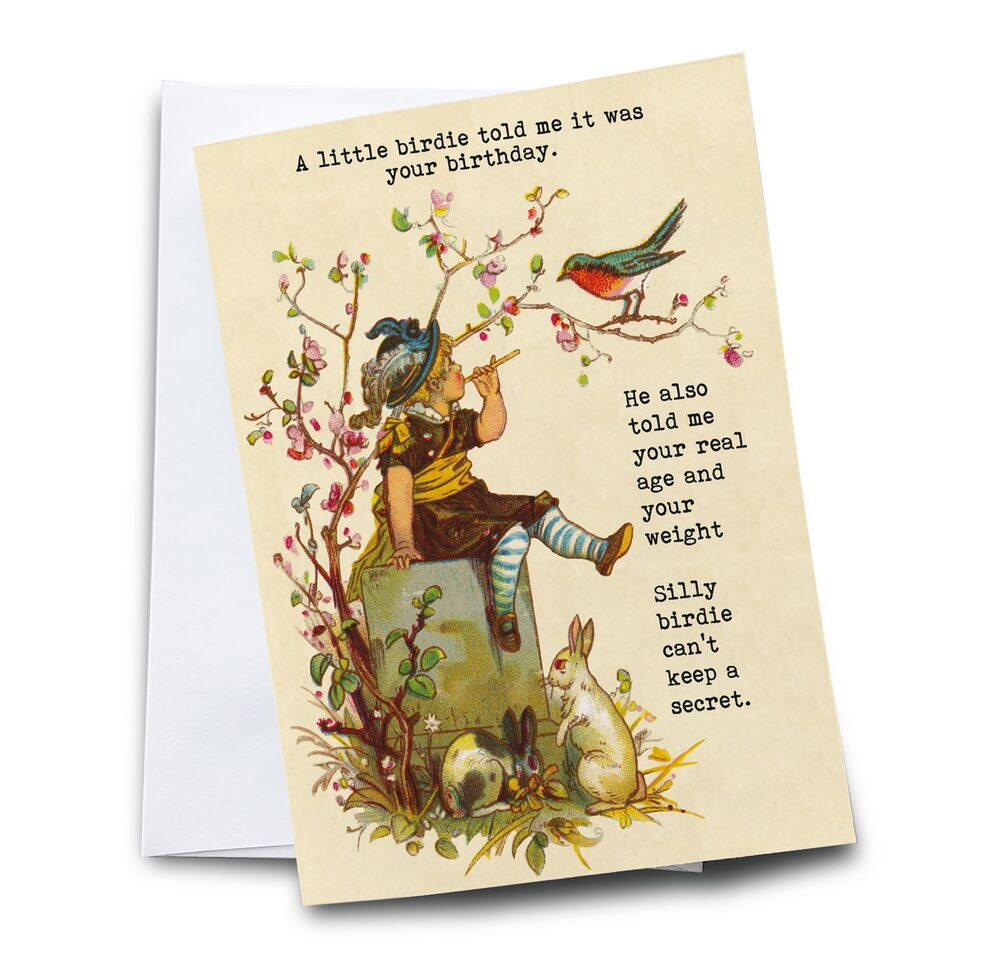 A Little Birdie Cannot Keep a Secret Greeting Card