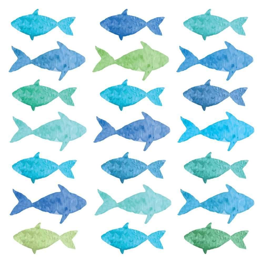 Aquarell Fish - Cocktail Napkins