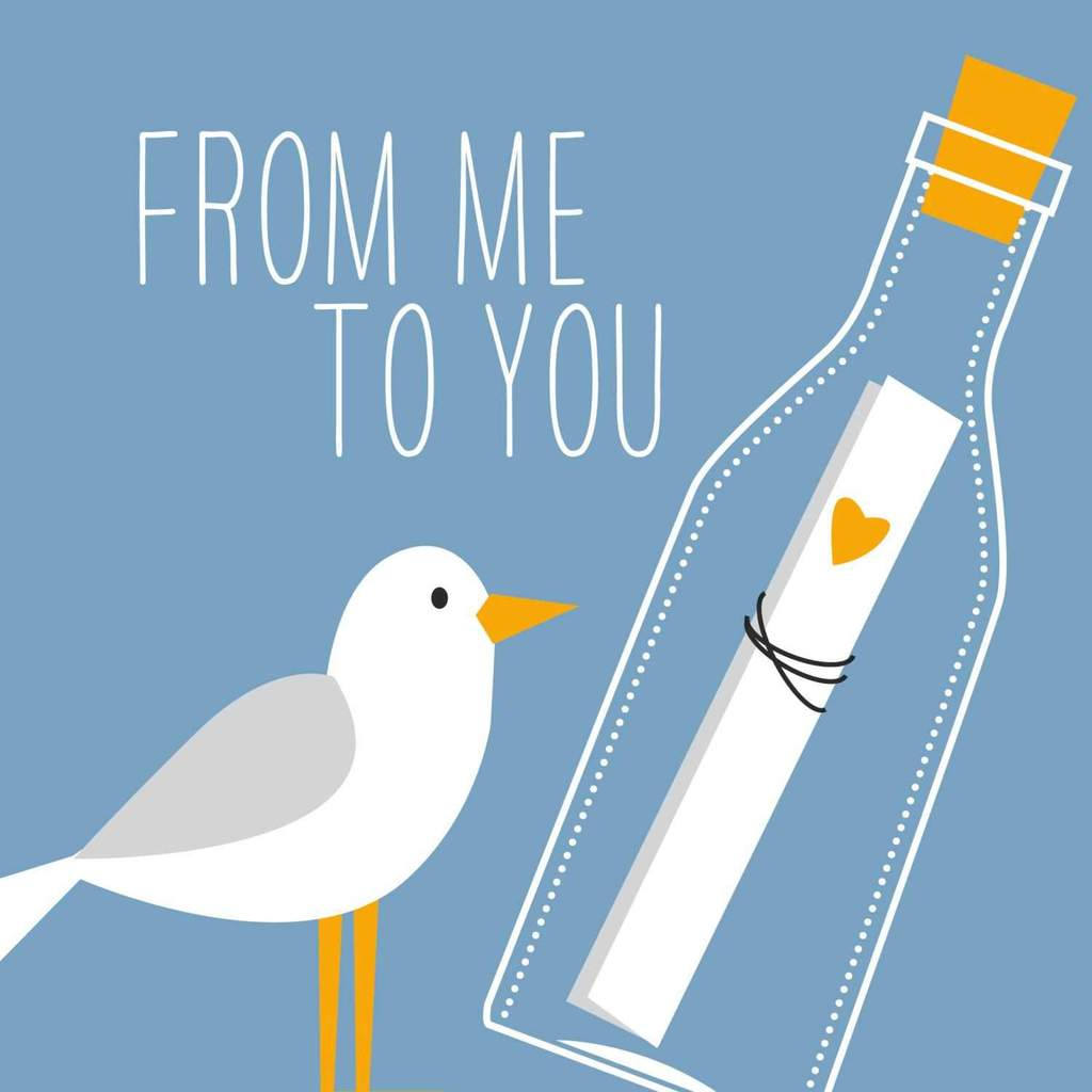 From Me To You (Gull with Message In A Bottle) - Cocktail Napkins