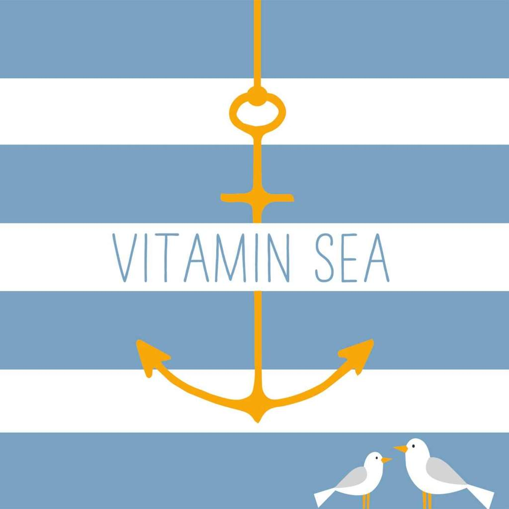 Vitamin Sea (Gulls with Anchor) - Cocktail Napkins - Cocktail Napkins