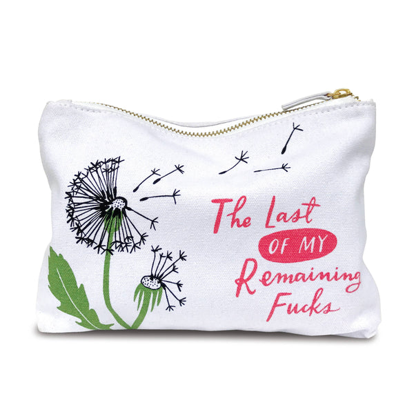 Emily McDowell - The Last Of My Remaining Fucks - Zippered Pouch