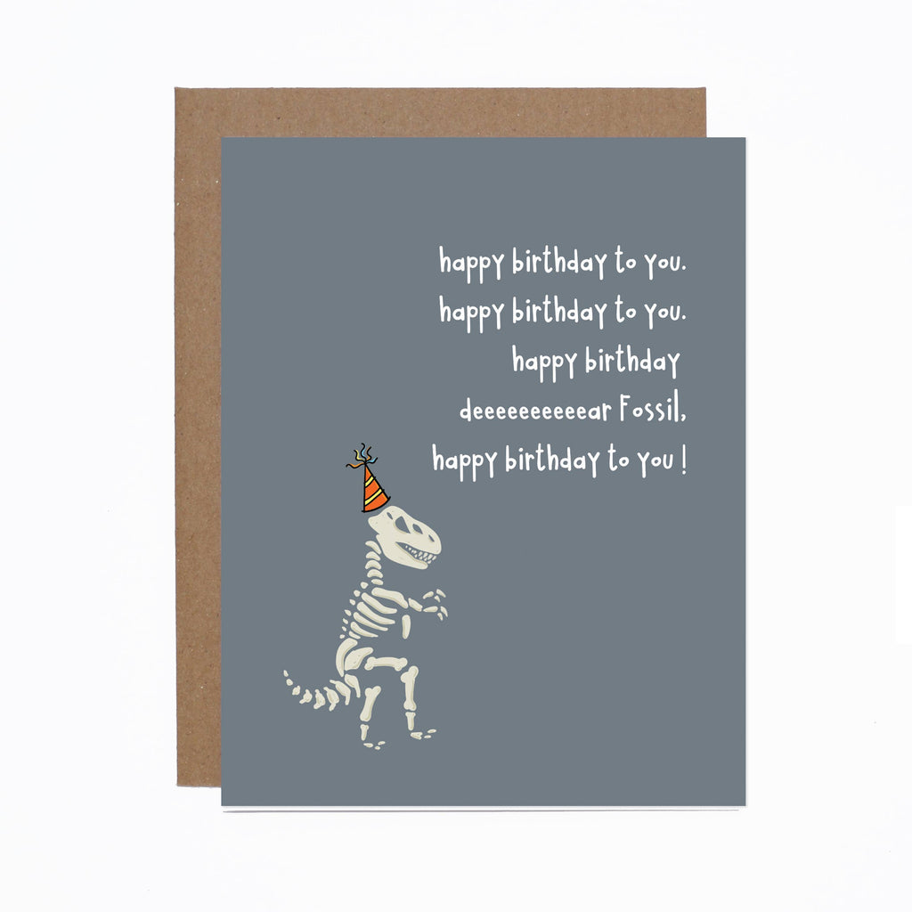 Birthday Fossil Card