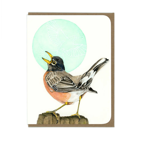 American Robin Bird Greeting Card