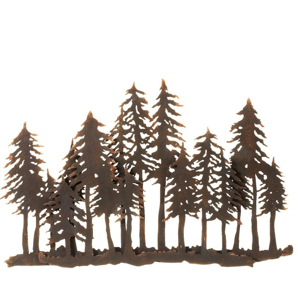 Layered Forest Silhouette Wall Mural 29-in