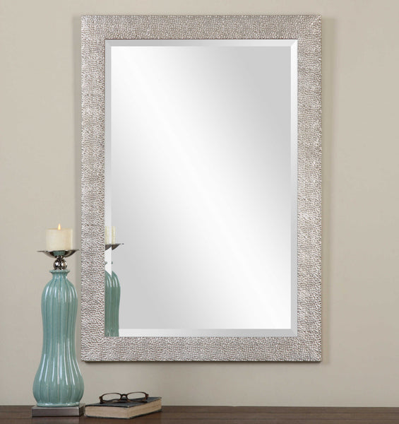 Porcius Mirror - Textured Antique Silver - 41-in