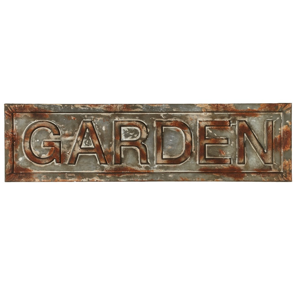 Garden | Distressed Galvanized Wall Decor | 29-1/2-in