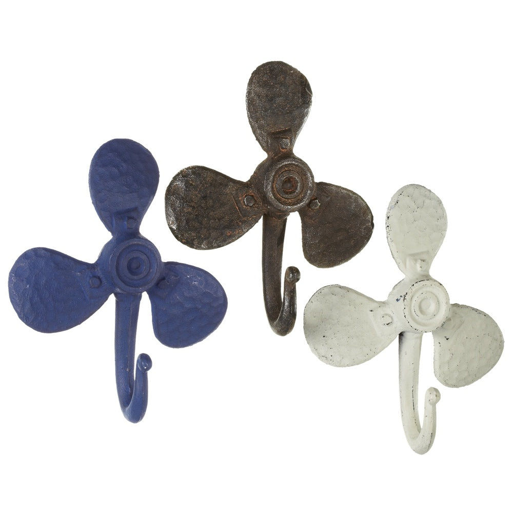 Marine Propeller Cast Iron Wall Hook | 7-1/2-in