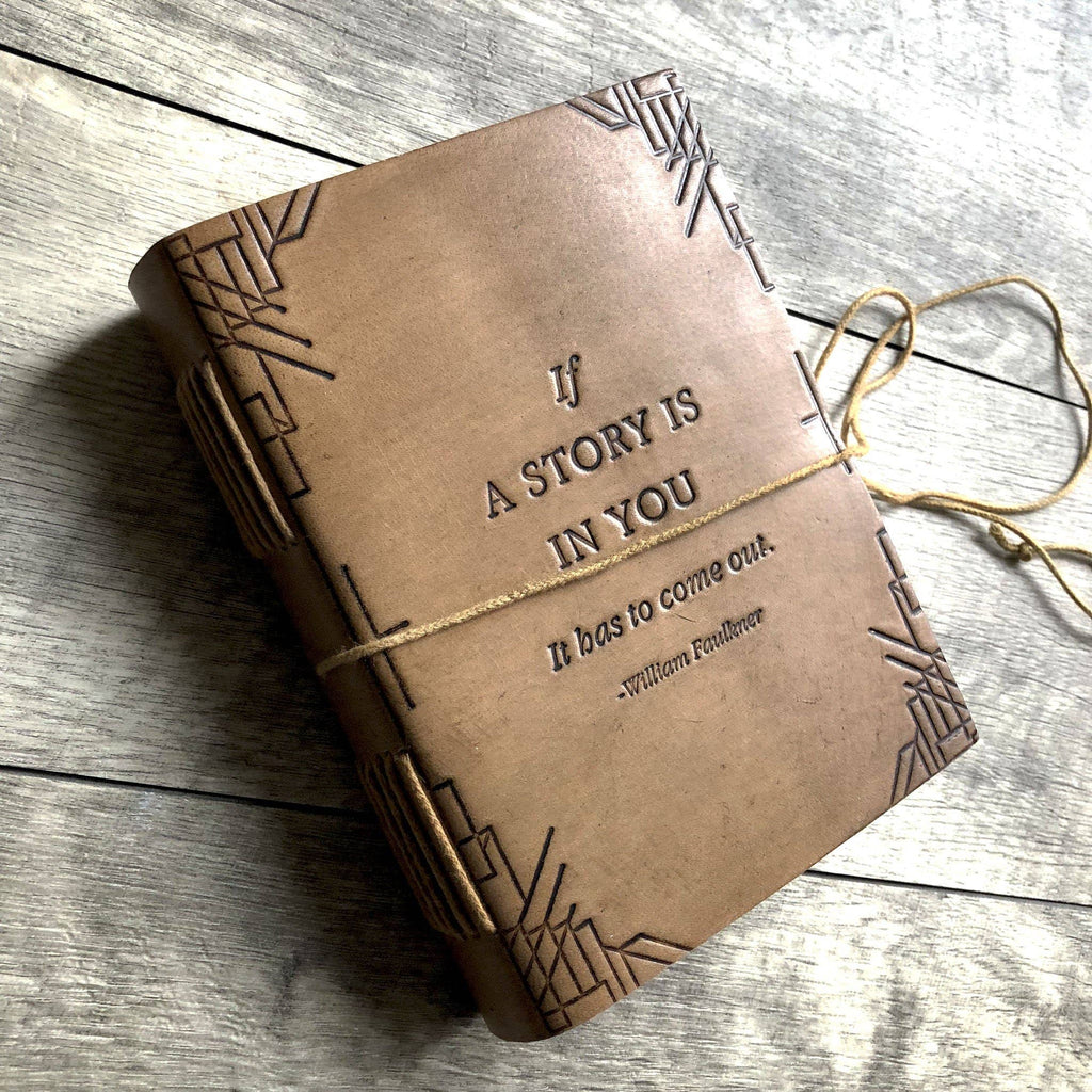 If A Story - Handmade Blonde Leather Journal