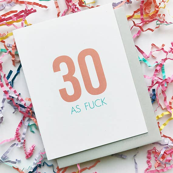30 AF - Birthday Greeting Card