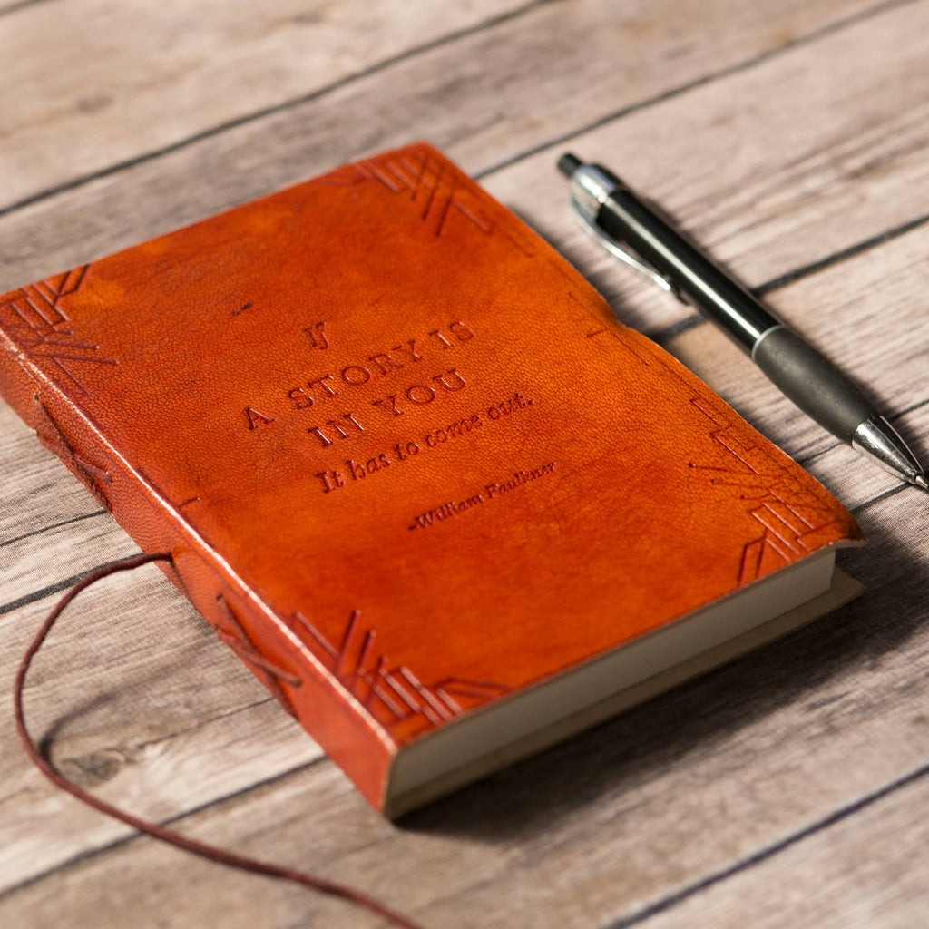 If A Story - Handmade Leather Journal - Brown
