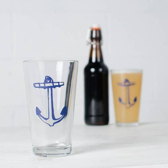 Nautical Pint Glasses