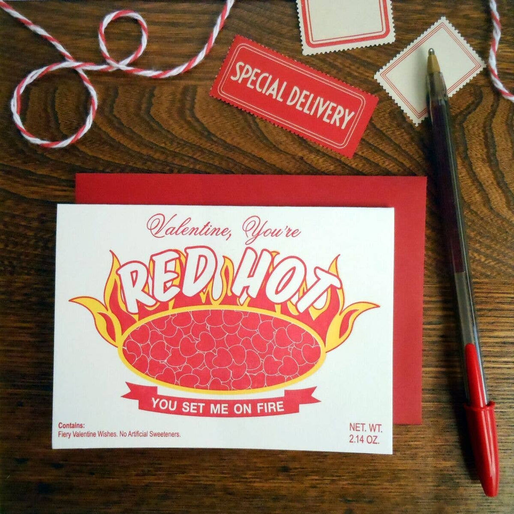 Red Hots Valentine's Day Greeting Card