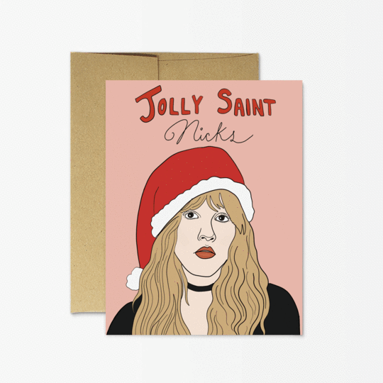 Jolly Saint Nicks Christmas Holiday Greeting Card