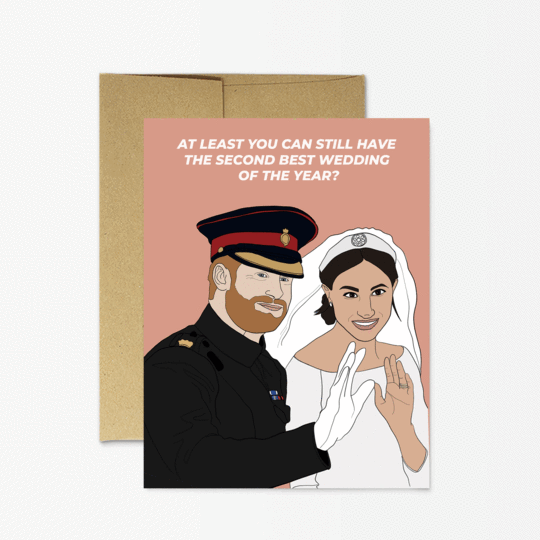 Party Mountain Paper co. - Harry And Meghan Wedding Card