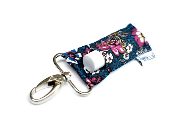 Navy with Fuchsia Floral LippyClip®