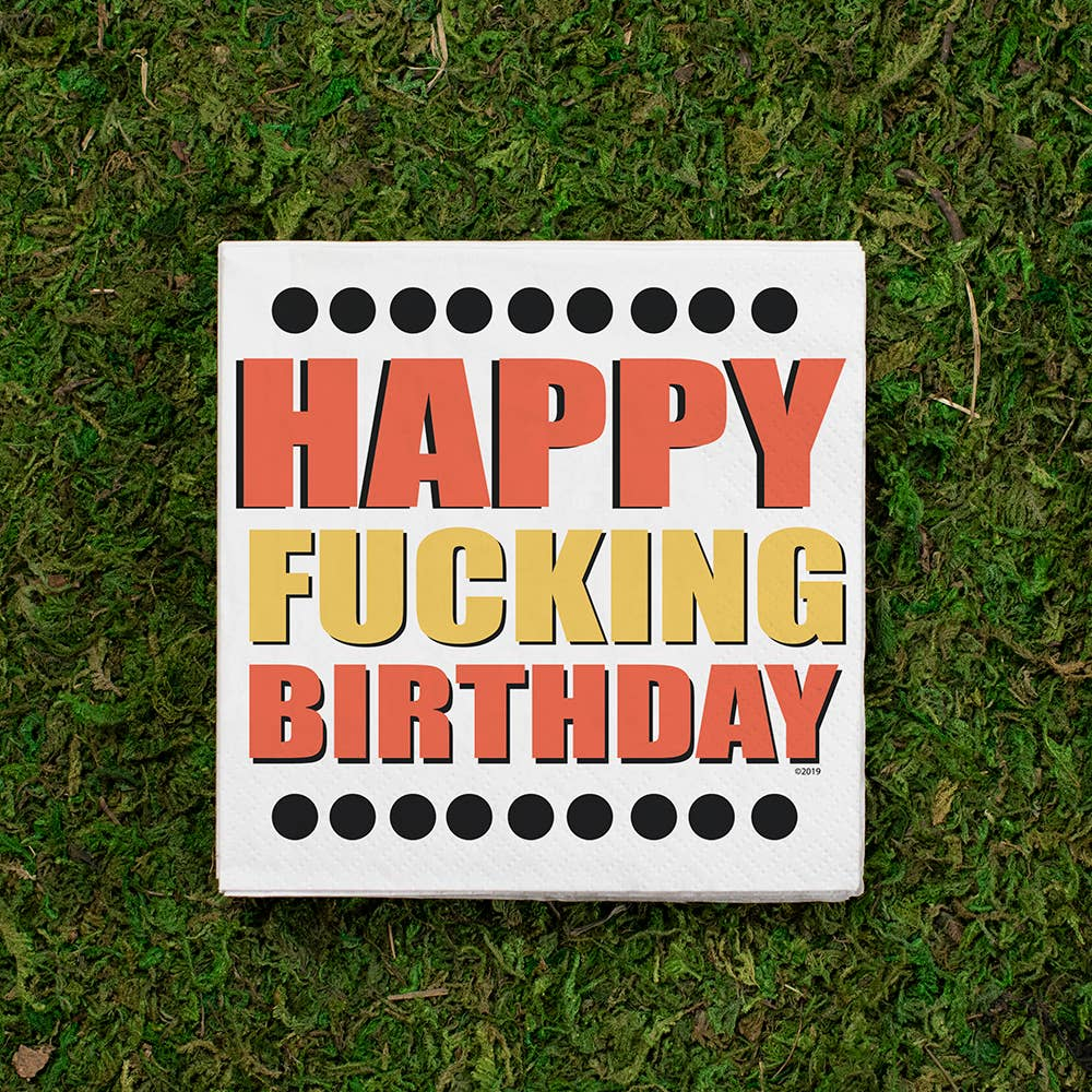 Twisted Wares - Happy Fucking Birthday Cocktail Napkin