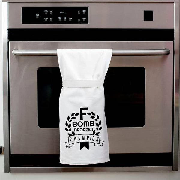 F Bomb Dropper Champion - Kitchen Towel