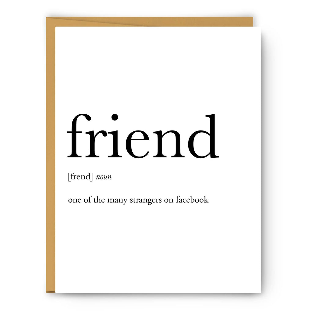 Footnotes - Friend Definition - Greeting Card