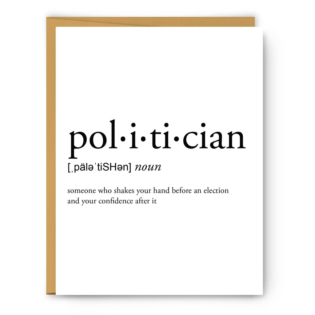 Footnotes - Politician Definition - Greeting Card