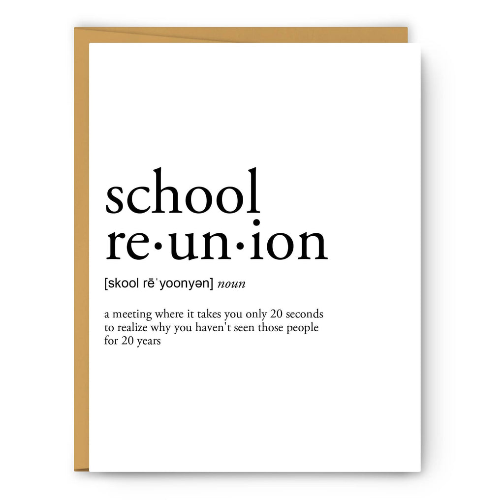 Footnotes - School Reunion Definition - Greeting Card