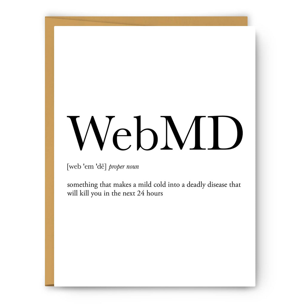 Footnotes - WebMD Definition - Greeting Card