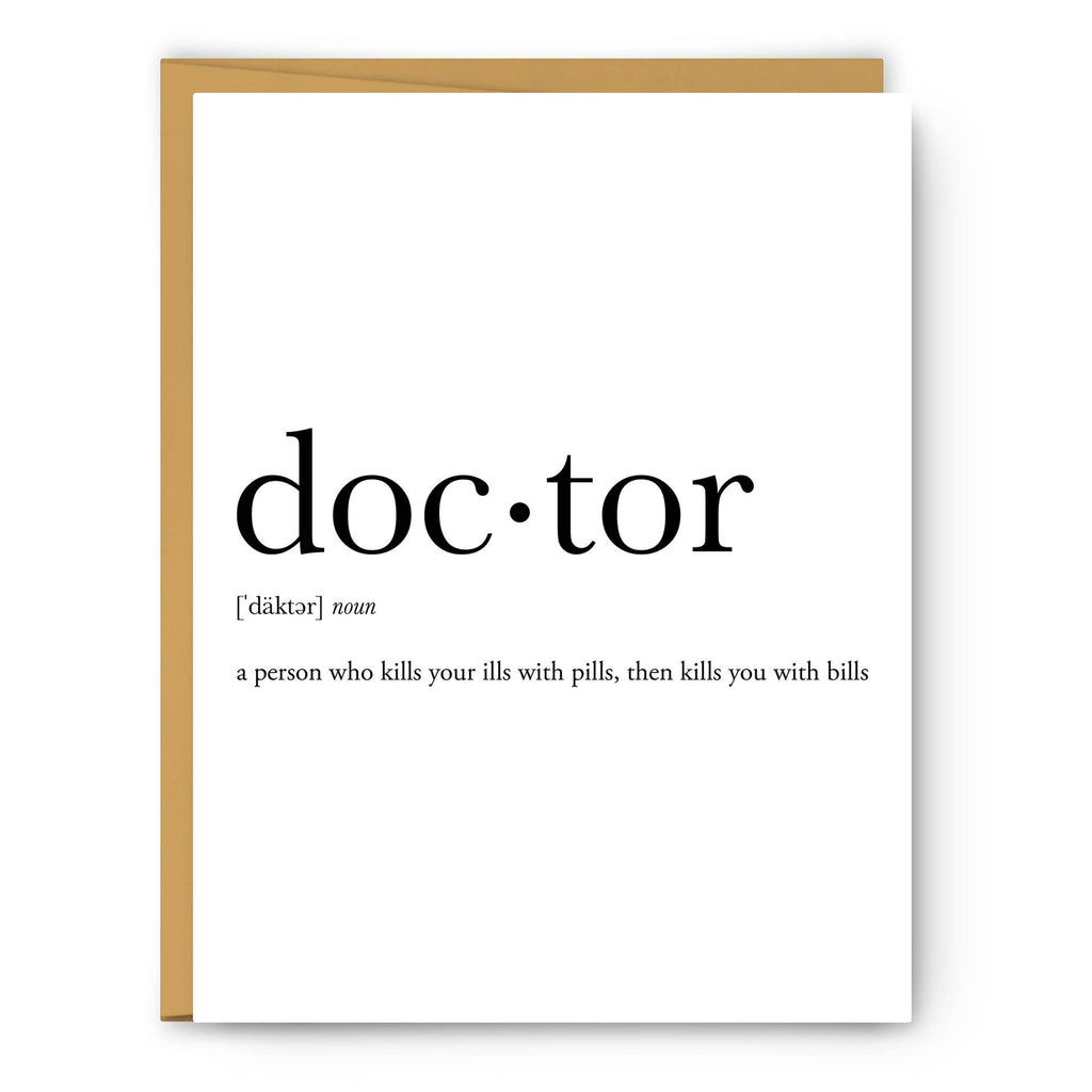 Footnotes - Doctor Definition - Greeting Card