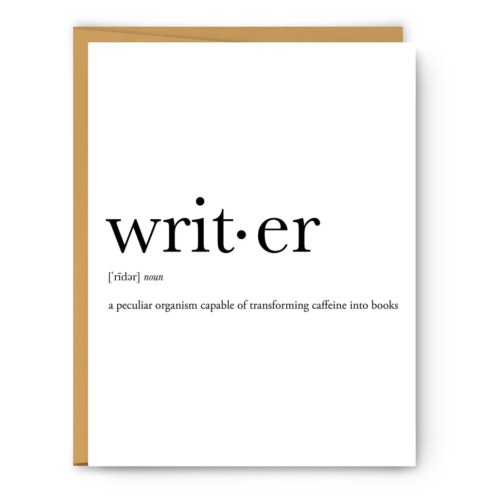 Footnotes - Writer Definition - Greeting Card