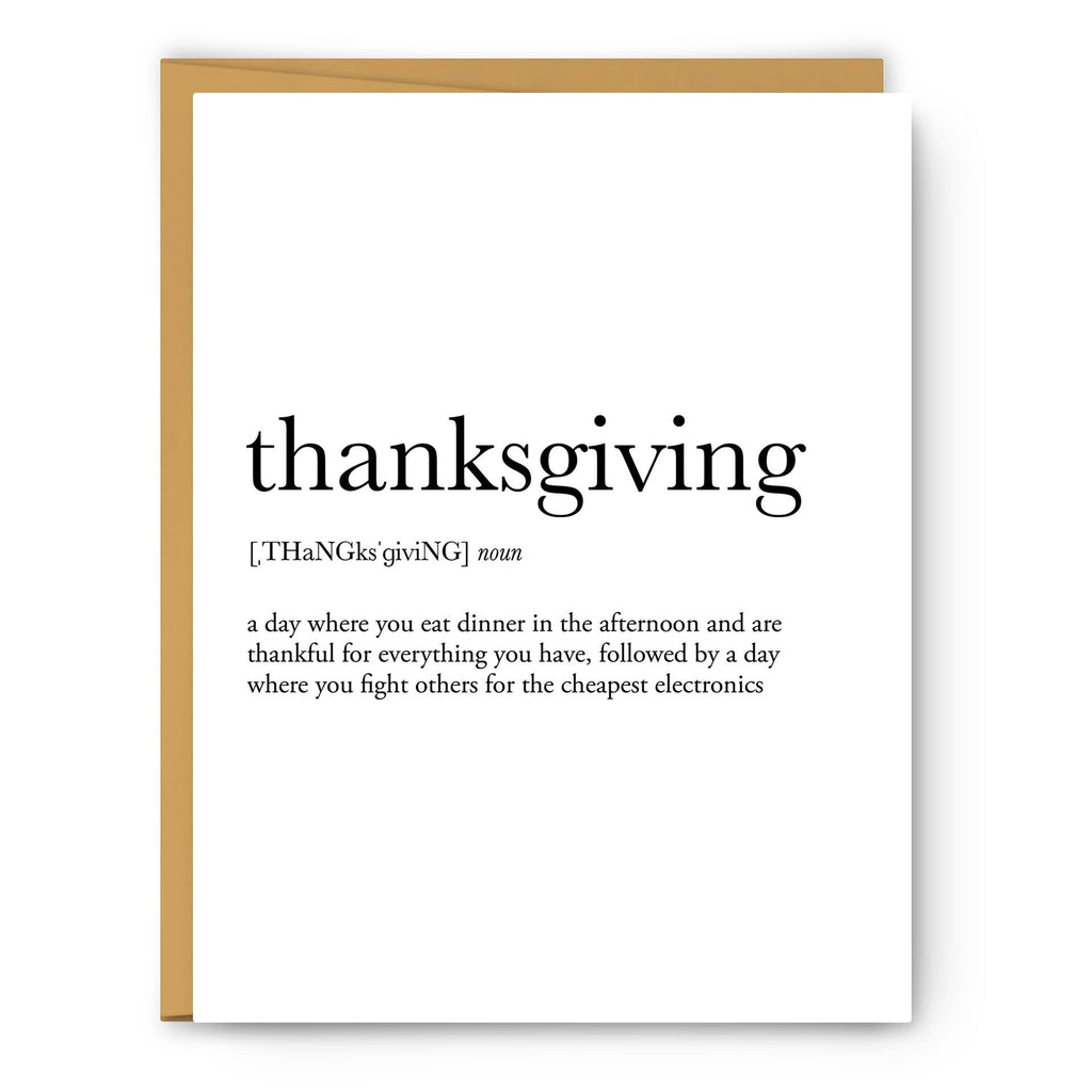 Footnotes - Thanksgiving Definition - Greeting Card