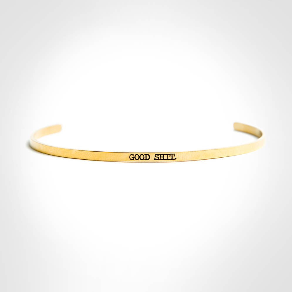 Good Shit Gold Delicate Bangle