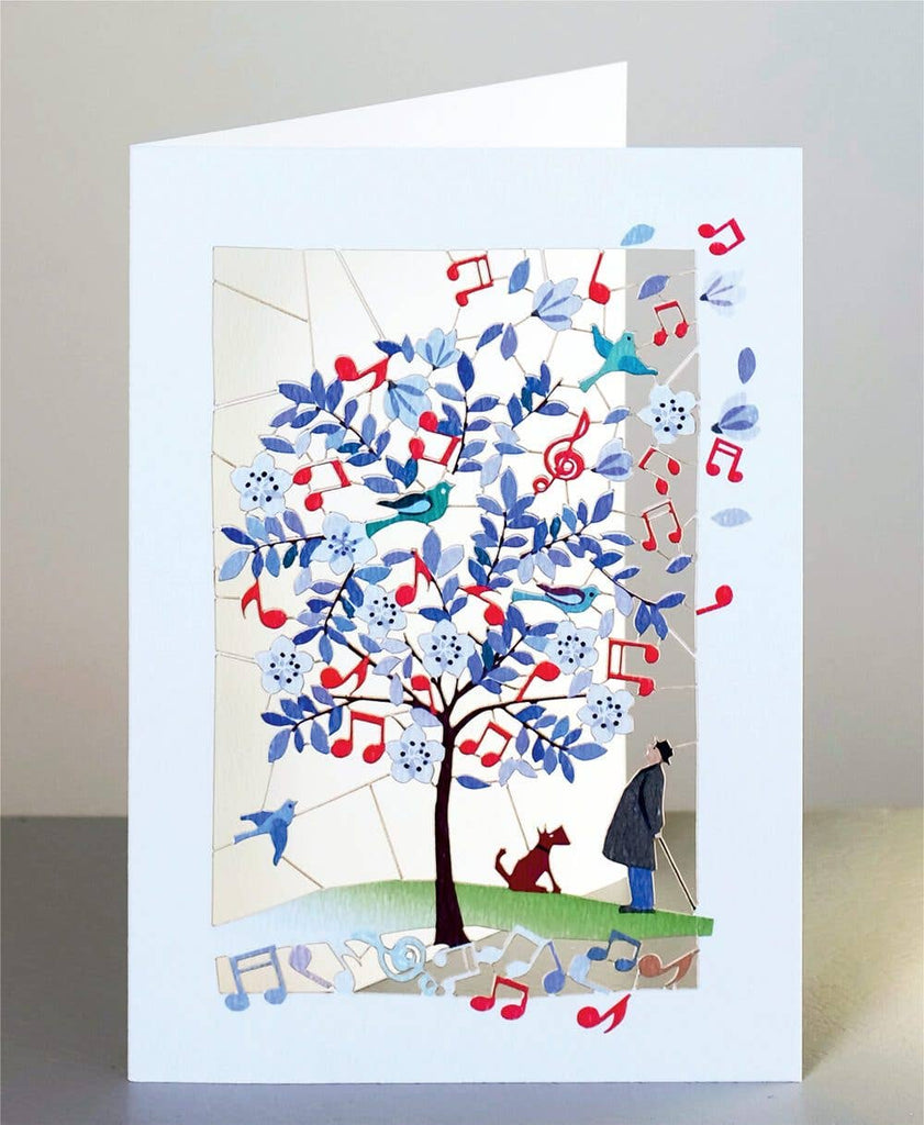 Shadywood Designs - Music and Love - Perfect Together - Laser Cut Greeting Card