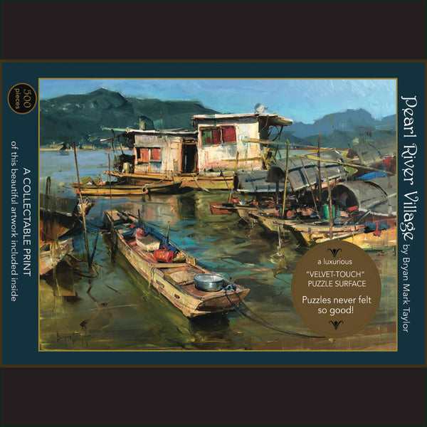 "Pearl River Village;  500-Piece ""Velvet-Touch"" Jigsaw Puzzle"