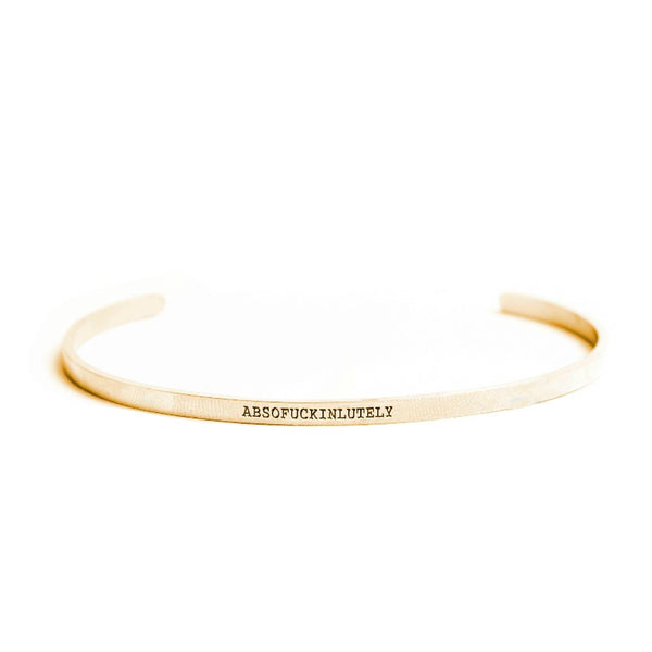 Absofuckinlutely Gold Delicate Bangle