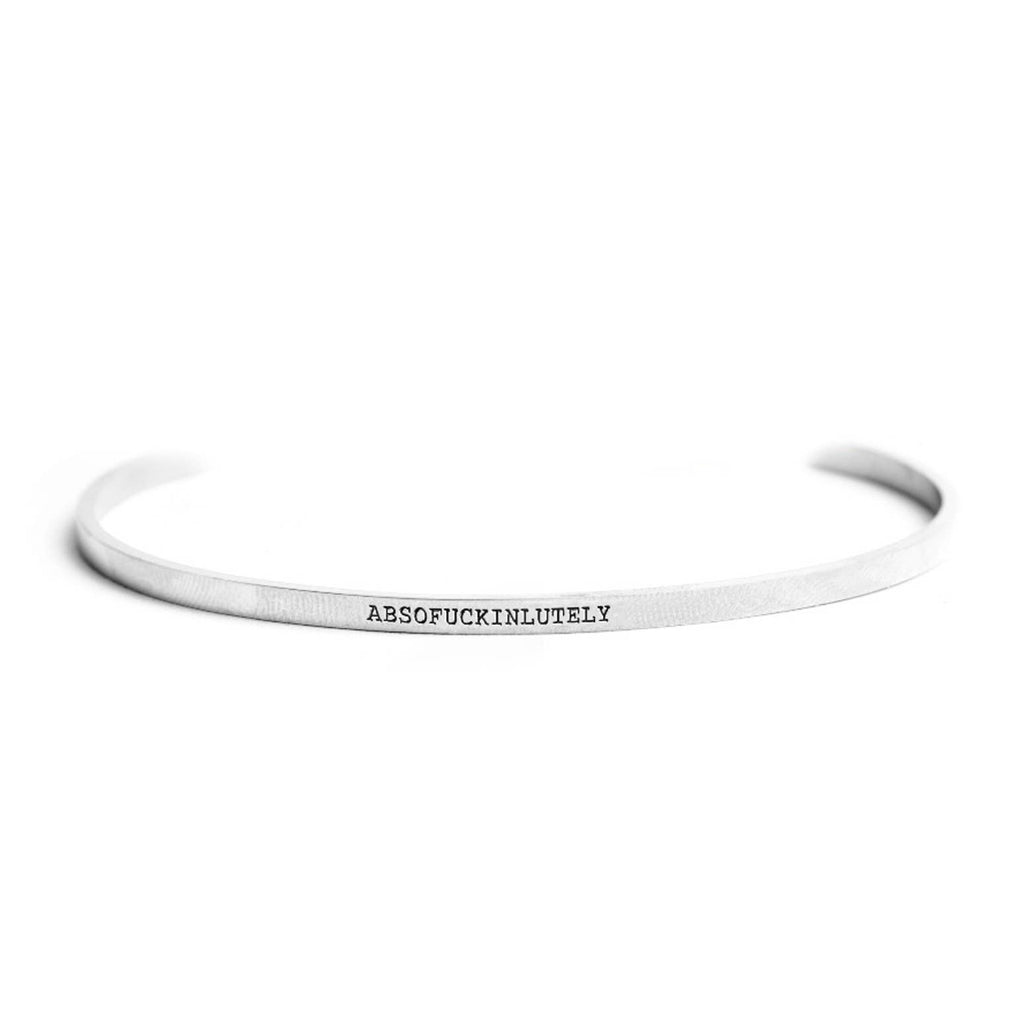Absofuckinlutely Stainless Steel Delicate Bangle
