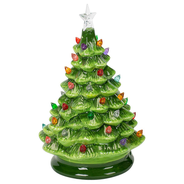 Ceramic Light Up LED Christmas Tree 8-1/4-in