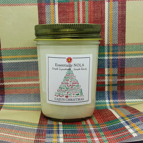 Cajun Christmas - Hand Poured Soy Candle - 8-oz